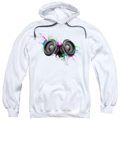 Music Speakers Colorful Design Sweatshirt by Johan Swanepoel