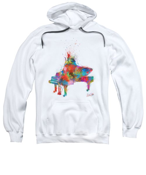 Music Strikes Fire From The Heart Sweatshirt by Nikki Marie Smith