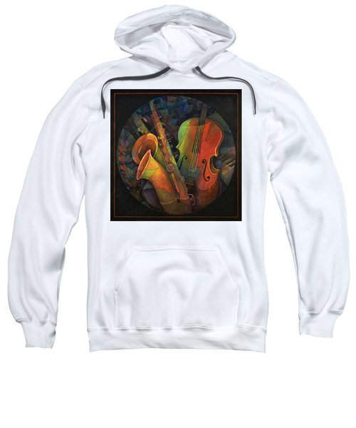 Musical Mandala - Features Cello And Sax's Sweatshirt