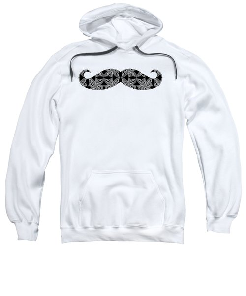 Sweatshirt featuring the digital art Mustache Tee by Edward Fielding