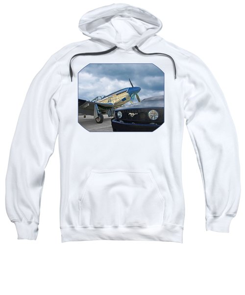 Mustang Gt With P51 Sweatshirt