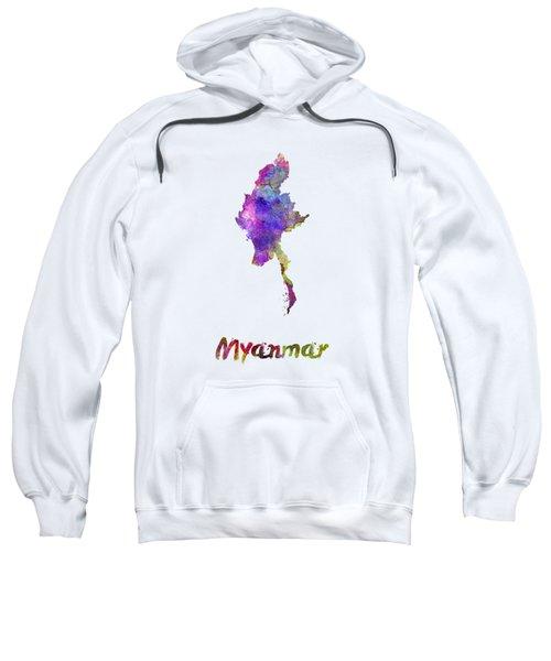 Myanmar In Watercolor Sweatshirt