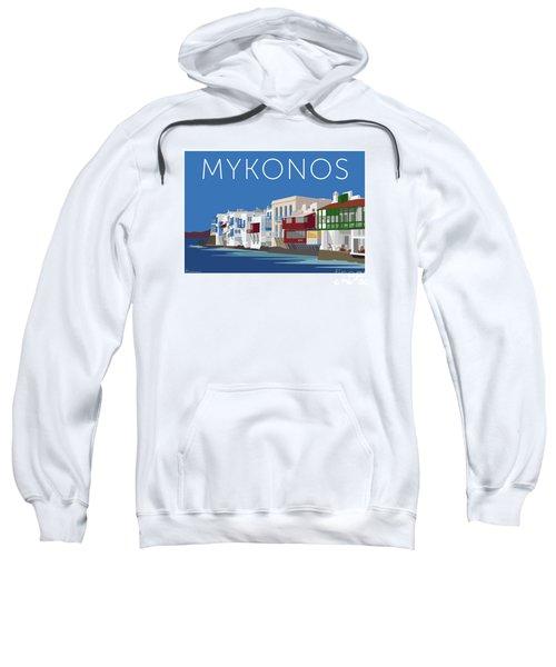 Mykonos Little Venice - Blue Sweatshirt