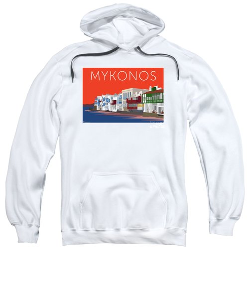 Mykonos Little Venice - Orange Sweatshirt
