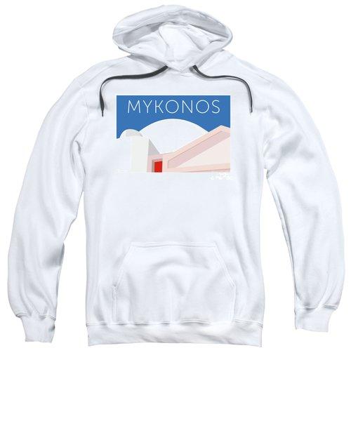 Sweatshirt featuring the digital art Mykonos Walls - Blue by Sam Brennan