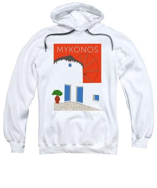 Mykonos Windmill - Orange Sweatshirt