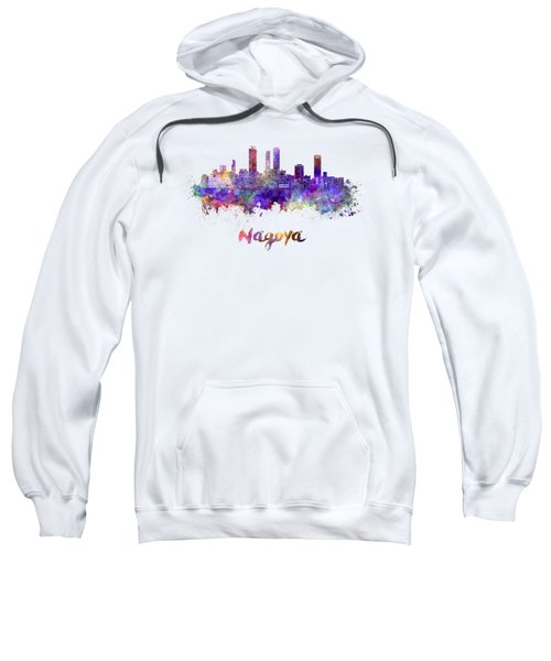 Nagoya Skyline In Watercolor Sweatshirt