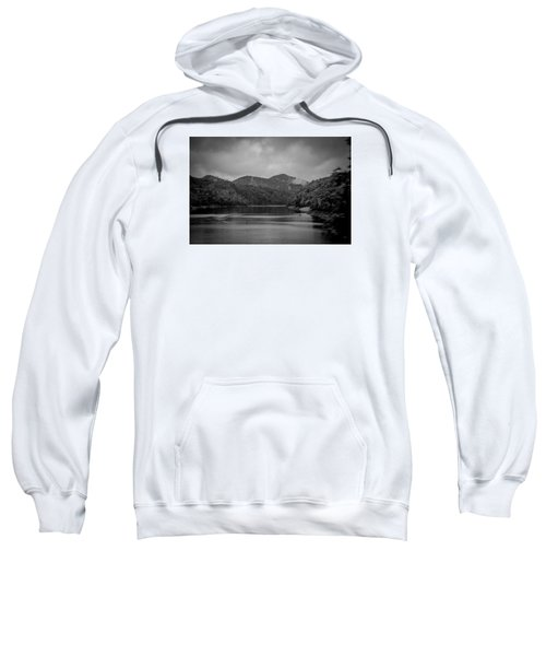 Nantahala River Great Smoky Mountains In Black And White Sweatshirt