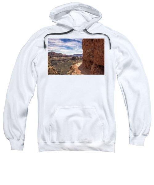 Narrow Trail On The South Kaibab Trail, Grand Canyon Sweatshirt