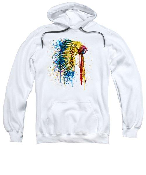 Native American Feather Headdress   Sweatshirt