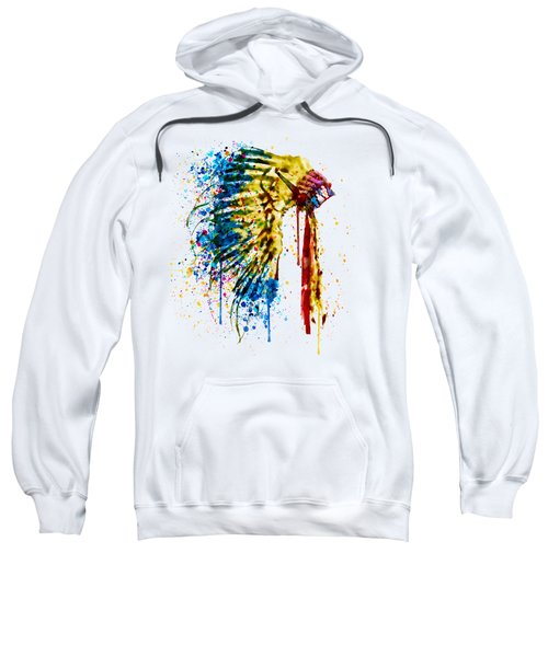 Native American Feather Headdress   Sweatshirt