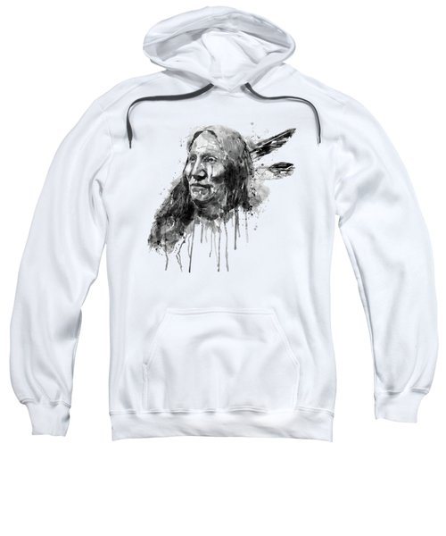 Native American Portrait Black And White Sweatshirt