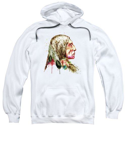 Native American Side Face Sweatshirt