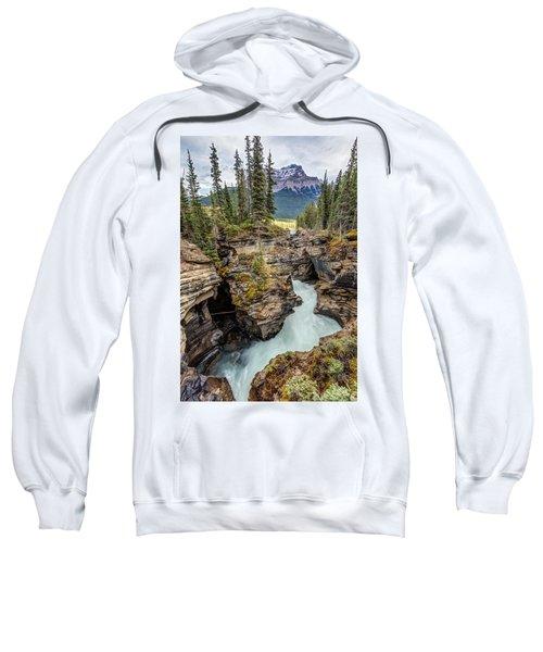 Natural Flow Of Athabasca Falls Sweatshirt