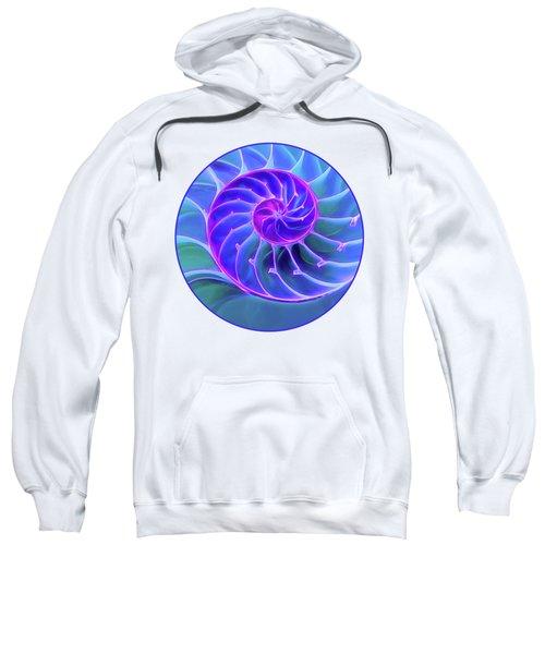 Nautilus Blue Spiral Sweatshirt