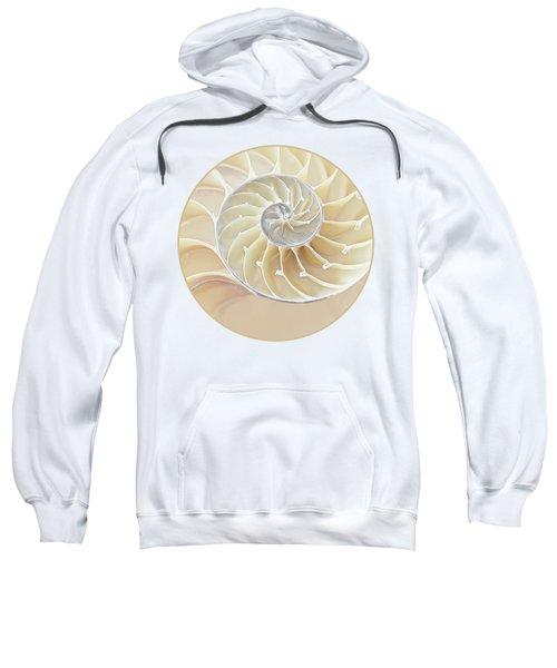 Nautilus Natural Cream Spiral Sweatshirt