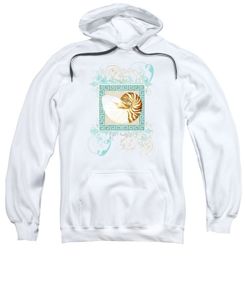 Nautilus Shell Greek Key W Swirl Flourishes Sweatshirt