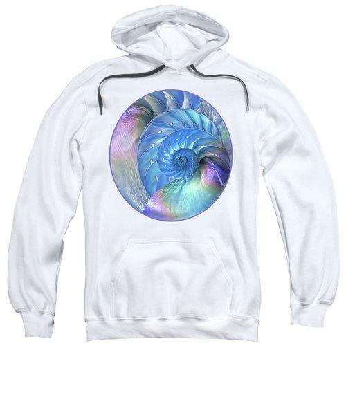 Nautilus Shells Blue And Purple Sweatshirt