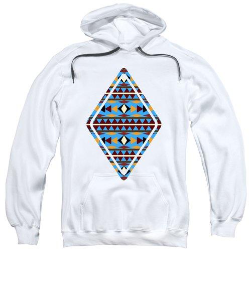 Navajo Blue Pattern Art Sweatshirt by Christina Rollo