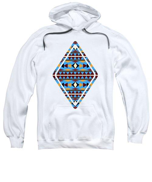 Navajo Blue Pattern Art Sweatshirt