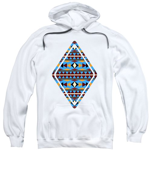 Navajo Blue Pattern Art Sweatshirt