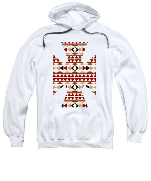 Navajo White Pattern Art Sweatshirt by Christina Rollo