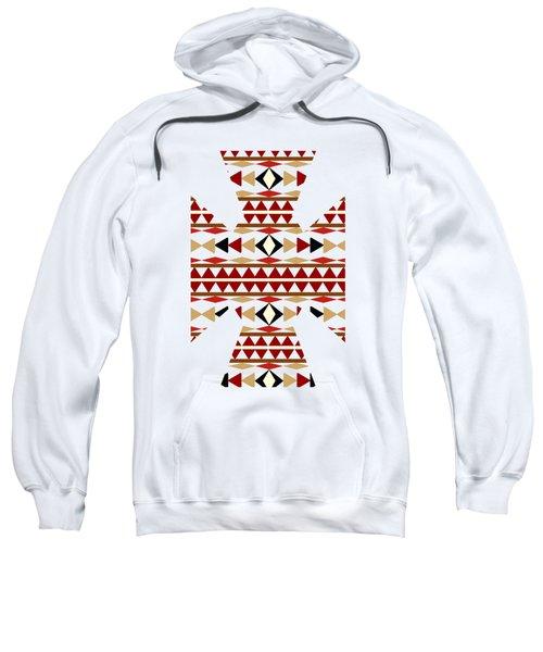 Navajo White Pattern Art Sweatshirt