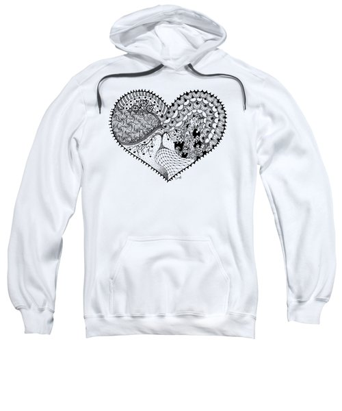 Sweatshirt featuring the drawing New Beginning by Ana V Ramirez