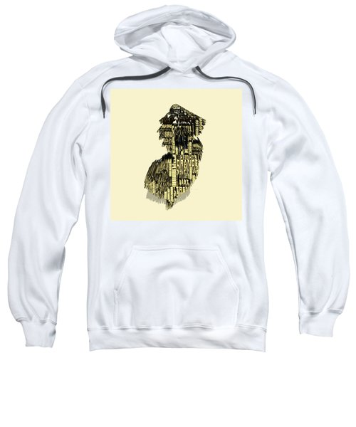 New Jersey Typographic Map 4d Sweatshirt