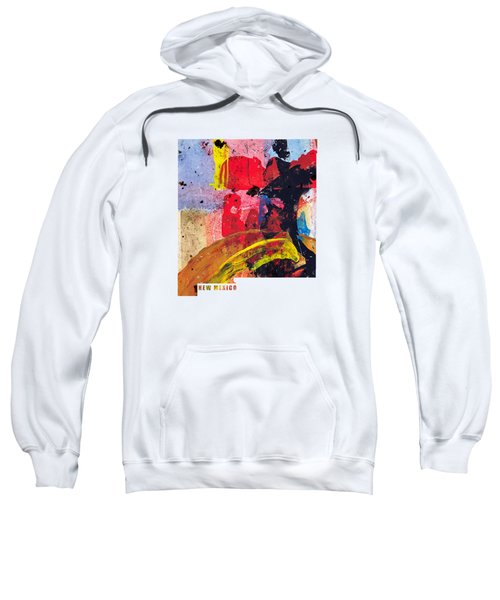 New Mexico Map Art - Painted Map Of New Mexico Sweatshirt