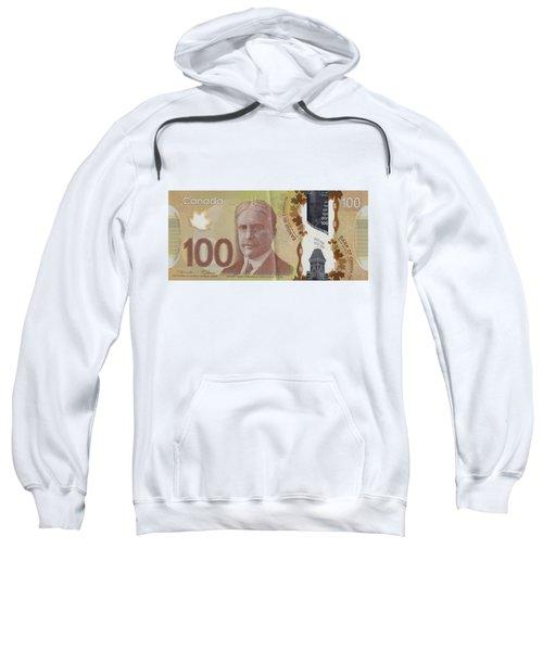 New One Hundred Canadian Dollar Bill Sweatshirt