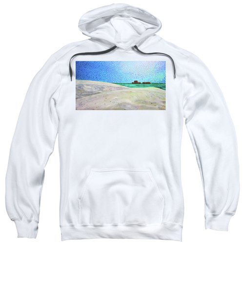 New Smyrna Beach As Seen From A Dune On Ponce Inlet Sweatshirt