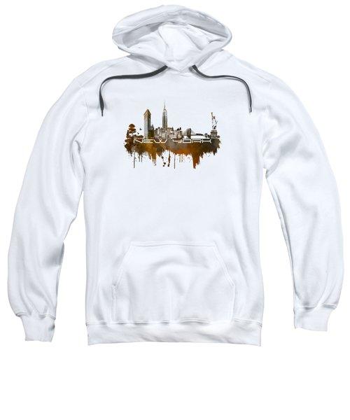 New York City Skyline Brown Sweatshirt