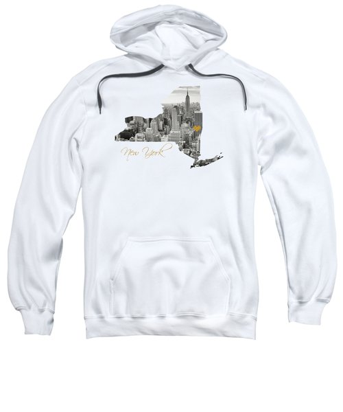 New York Map Cut Out Sweatshirt