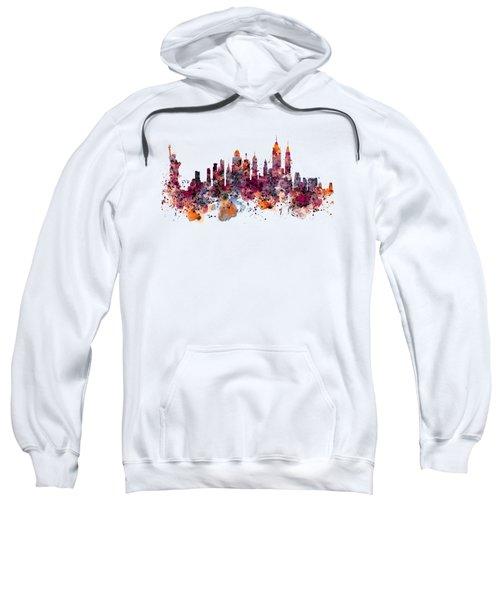 New York Skyline Watercolor Sweatshirt