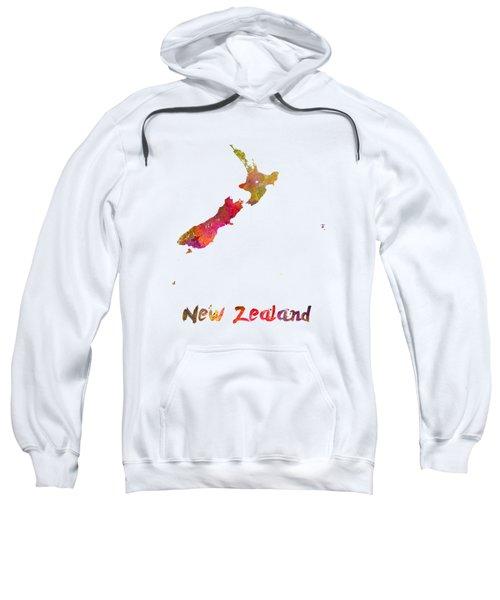 New Zealand In Watercolor Sweatshirt
