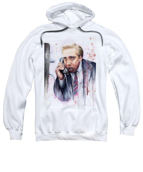 Nicolas Cage A Vampire's Kiss Watercolor Art Sweatshirt