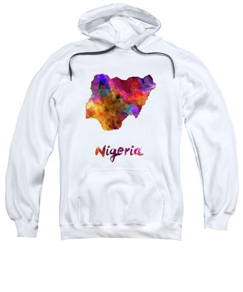 Nigeria In Watercolor Sweatshirt