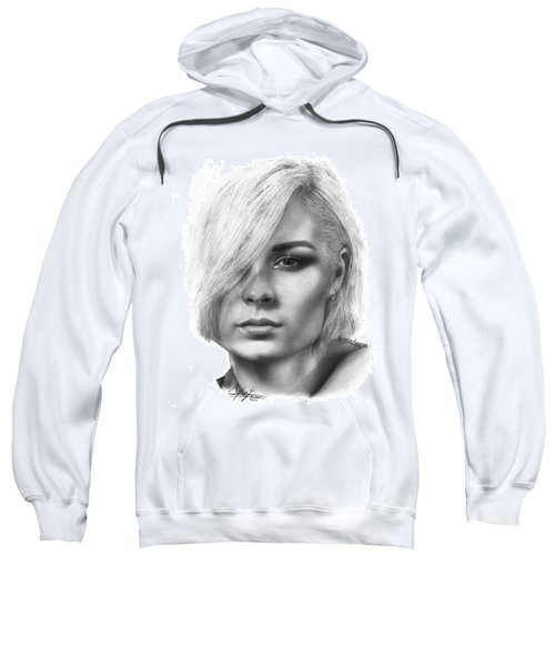 Nina Nesbitt Drawing By Sofia Furniel Sweatshirt