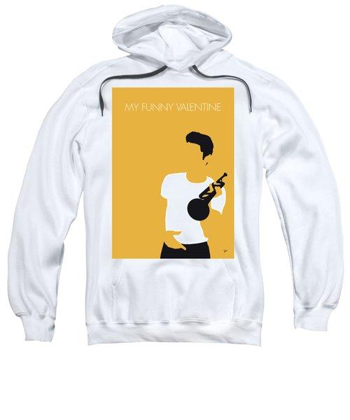 No084 My Chet Baker Minimal Music Poster Sweatshirt