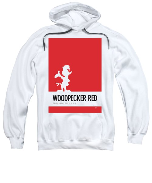 No12 My Minimal Color Code Poster Woody Woodpecker Sweatshirt
