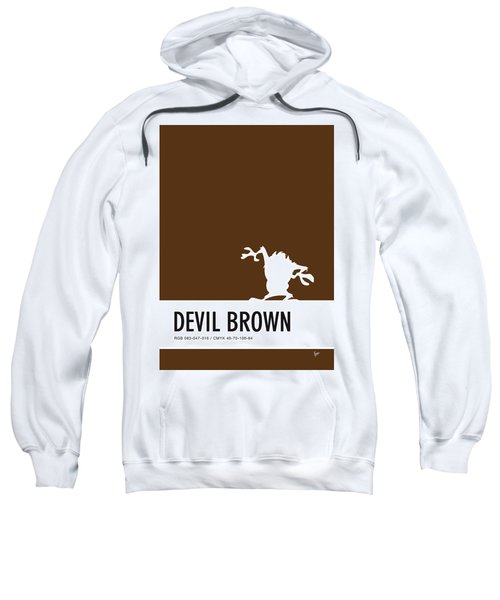 No16 My Minimal Color Code Poster Tasmanian Devil Sweatshirt