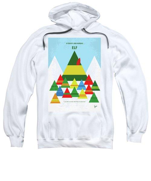 No699 My Elf Minimal Movie Poster Sweatshirt