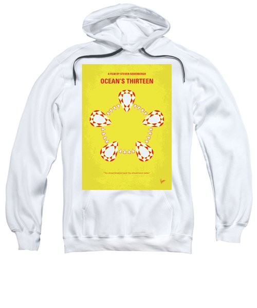 No706 My Oceans 13 Minimal Movie Poster Sweatshirt