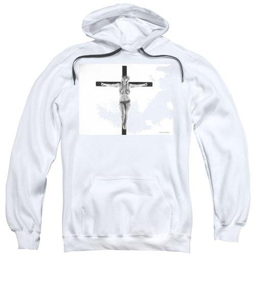 Nordic White Crucifix Sweatshirt