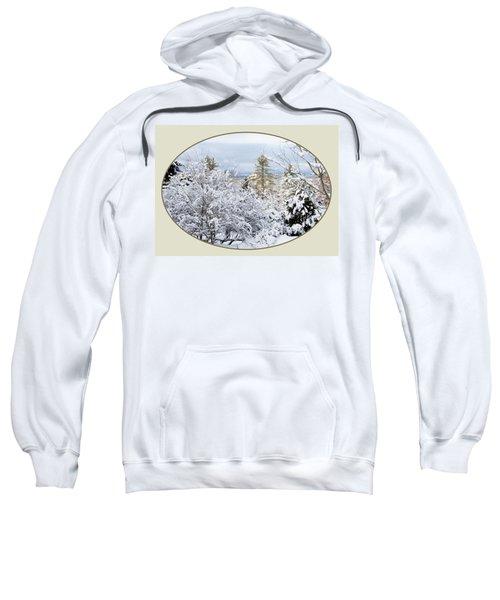 northeast USA photography button Sweatshirt