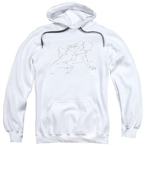 Nude-female-drawing-17 Sweatshirt