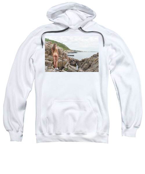 Nude Girl On Rocks Sweatshirt