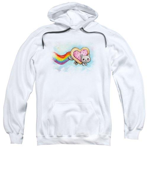 Nyan Cat Valentine Heart Sweatshirt