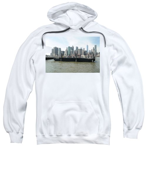 Nyc Skyline Sweatshirt by Michael Paszek
